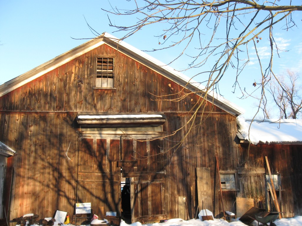 The barn at North Amherst Community Farm, MA, which I assessed in 2013.